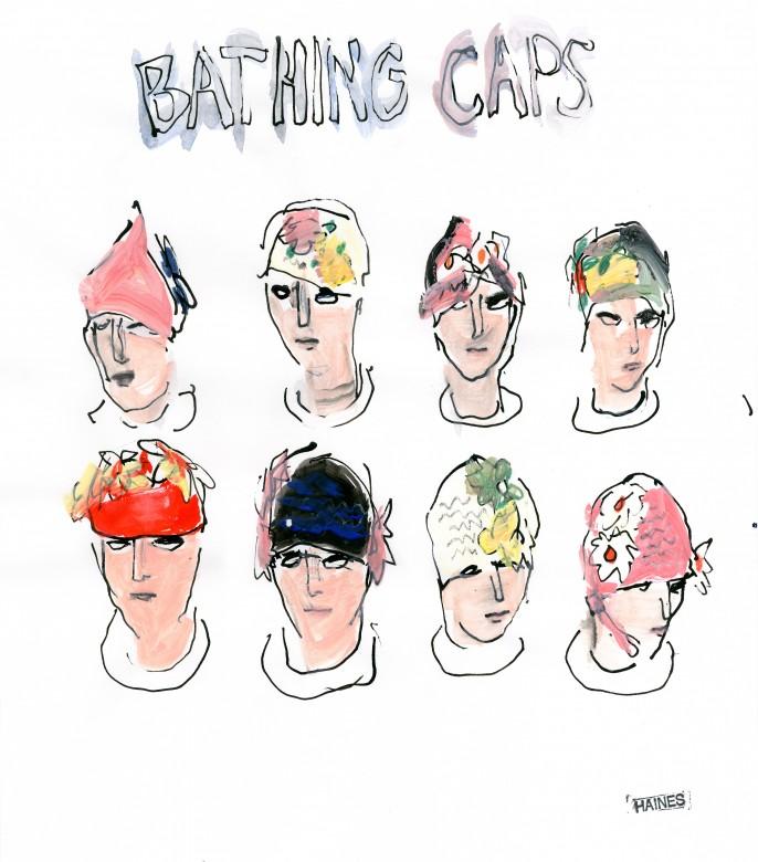 Bathing Caps - Richard Haines - courtesy Huberty Breyne gallery
