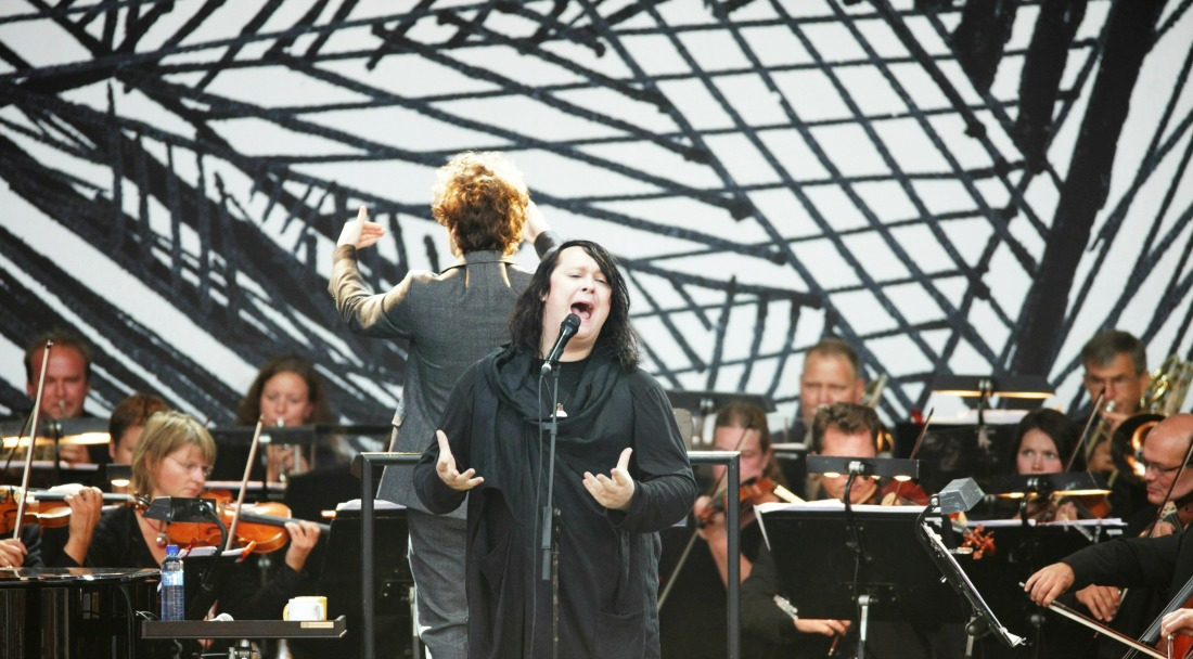 Anohni lors d'un concert à l'Opéra National d'Oslo en 2009 / Photo : Reuteurs