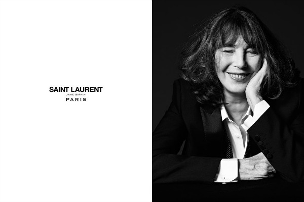 Jane Birkin, nouvelle égérie Saint-Laurent