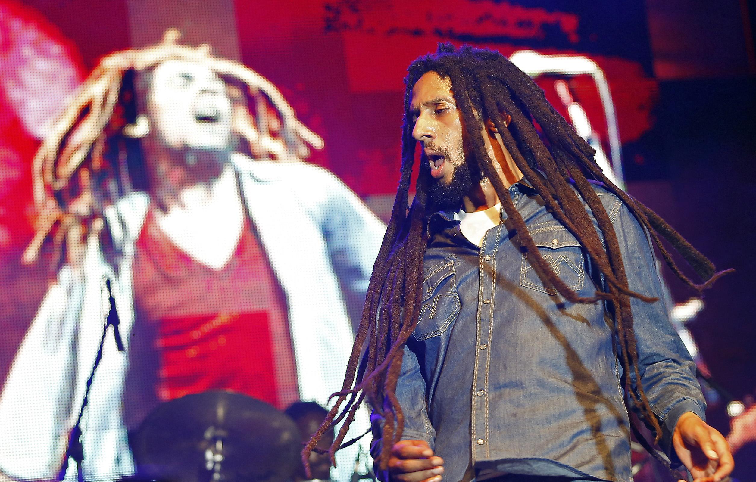 Julian Marley, fils de Bob Marley / Photo Reuters, Gilbert Bellamy