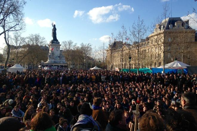Nuit Debout, place de la République.