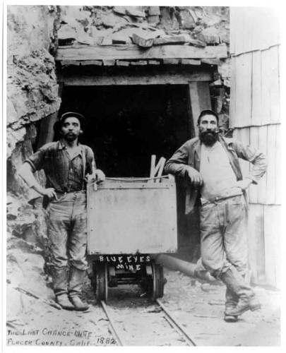 Les premiers mineurs californiens en Levi's