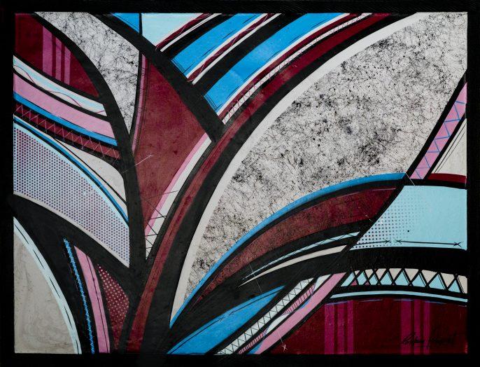 Romain Froquet. 64cmx84cm, 2016, Oeuvre créée pour Festiwall